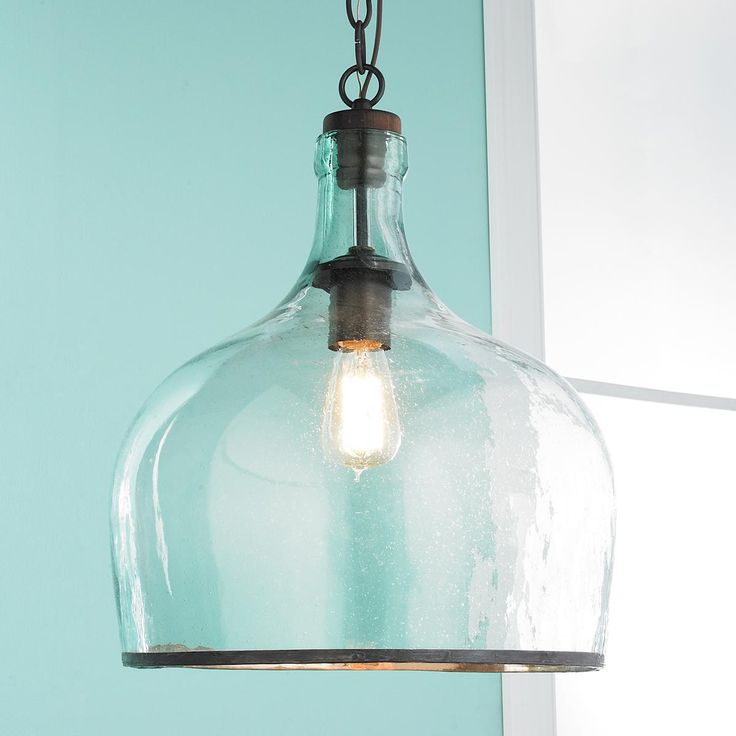 large glass cloche pendant available in 2 colors clear