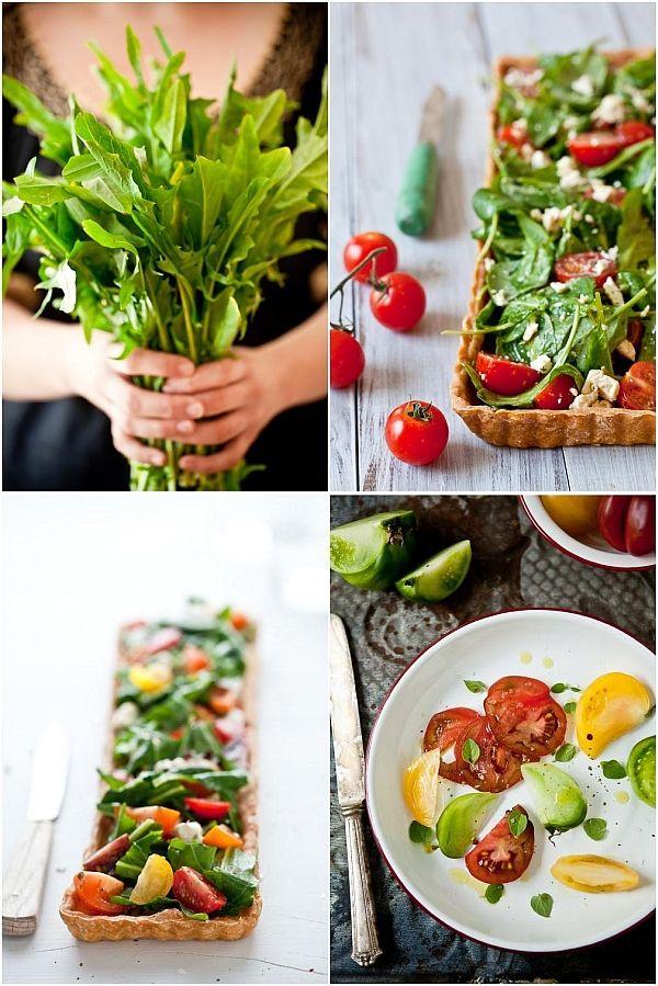 Arugula, Tomato, and Goat Cheese Tart | That looks good! | Pinterest