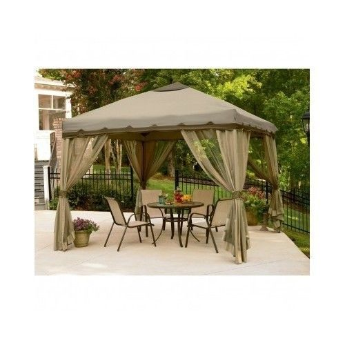 Pop up gazebo outdoor patio furniture canopy pergolas for Outdoor furniture gazebo