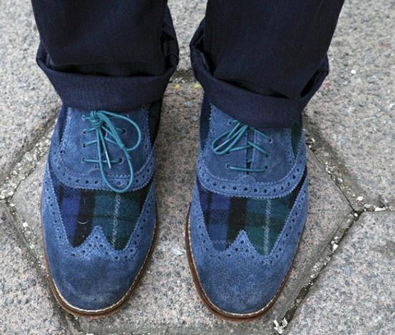 Blue suede shoes :) ELVIS