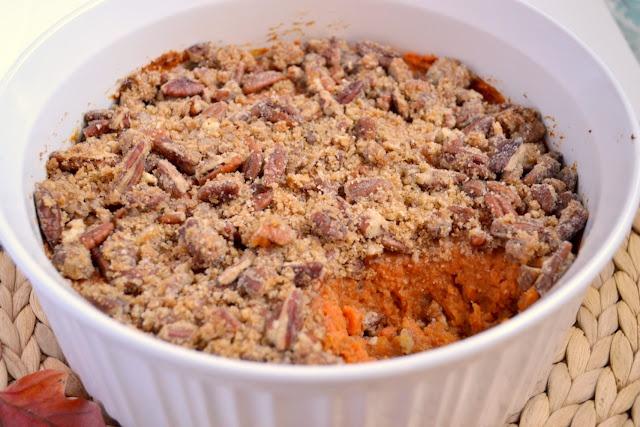 Bourbon sweet potato casserole. Any vegetable that passes for dessert ...
