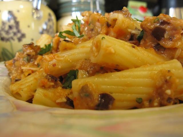 Rigatoni with Eggplant puree | Pasta, Pizza, Noodles & Salad Recipes ...