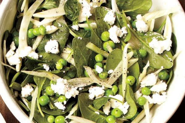 Pea,+Fennel+and+Goat+Cheese+Salad | Favorite Recipes | Pinterest