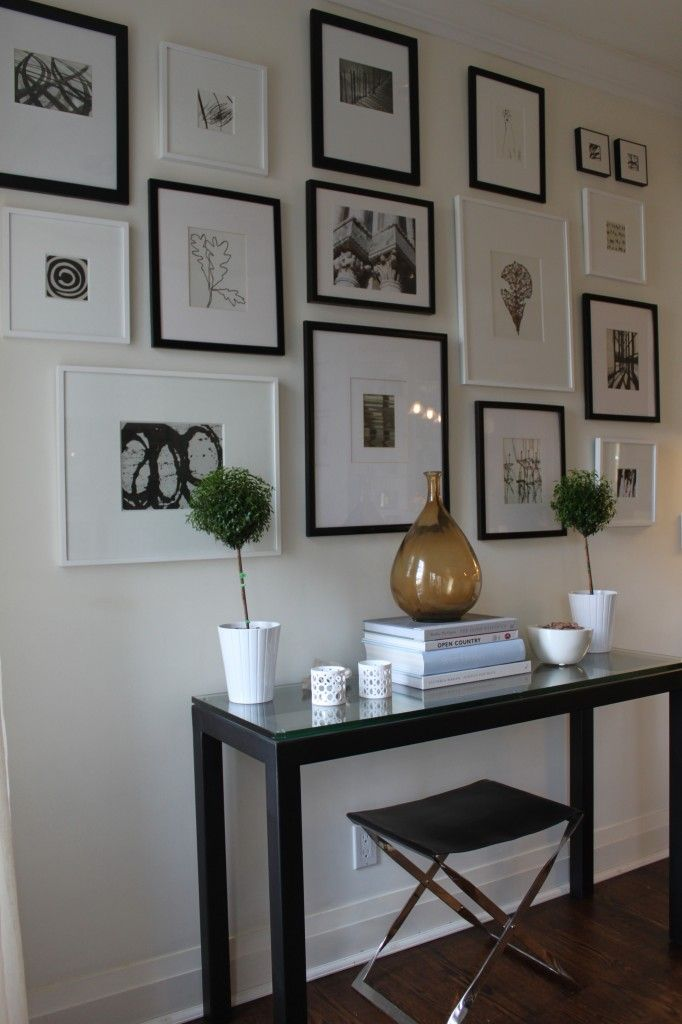 black and white gallery wall - Joyce MacFarlane Interiors
