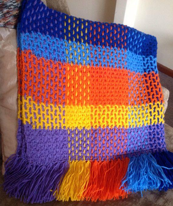 Handmade Crocheted Toddler Tartan Blanket