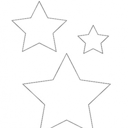 printable star pattern template