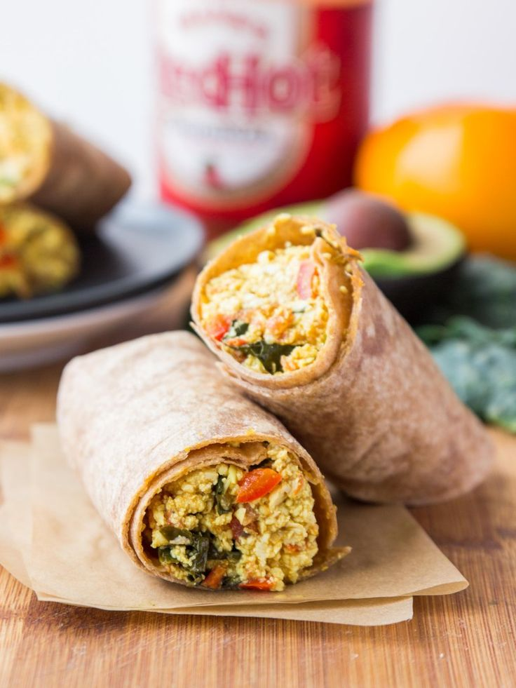 savory breakfast without the eggs! Mega flavorful breakfast burritos ...