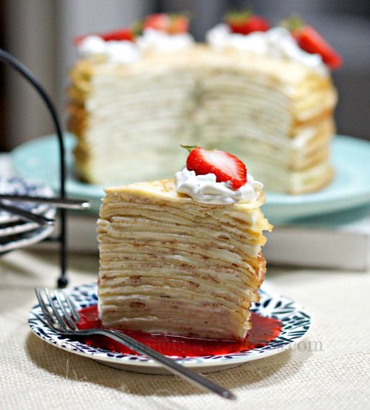 mille crêpe cake (gateau de crepes) | other sweet things | Pinterest