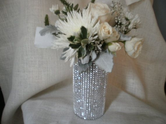 crystal ribbon bouquet vases centerpiece bling wedding vases set of