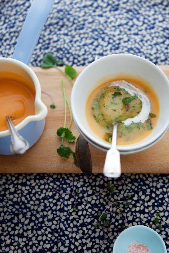 Celeriac, Rutabaga, and Acorn Squash Soup | Food and Drink | Pinterest