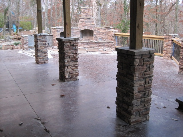 Stone Column Foundation : Love the stone sided column foundations dream home