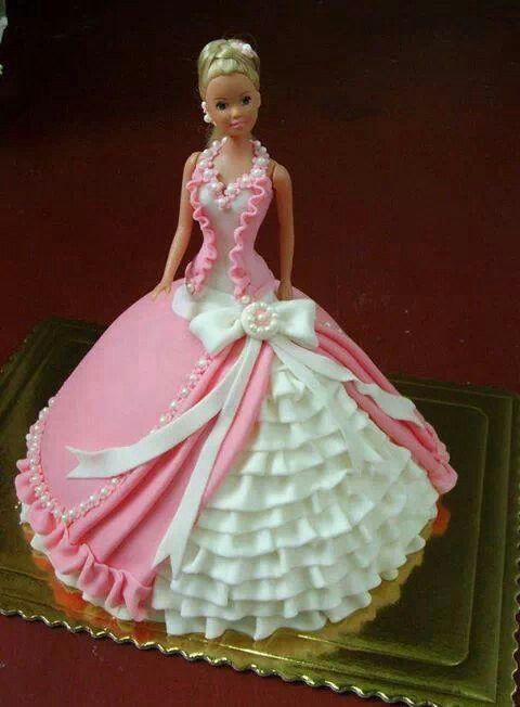 Ball Gown Barbie  Decorated Cakes  Pinterest