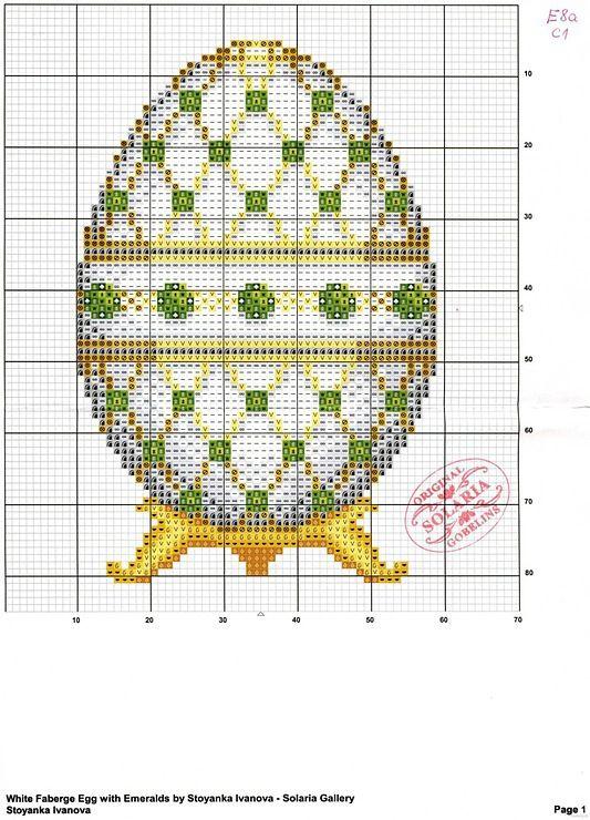 Вышивка крестом пасхальное яйцо схема 15
