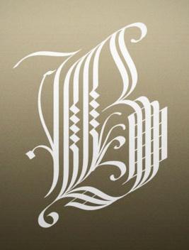 Letter B Calligraphy B Pinterest