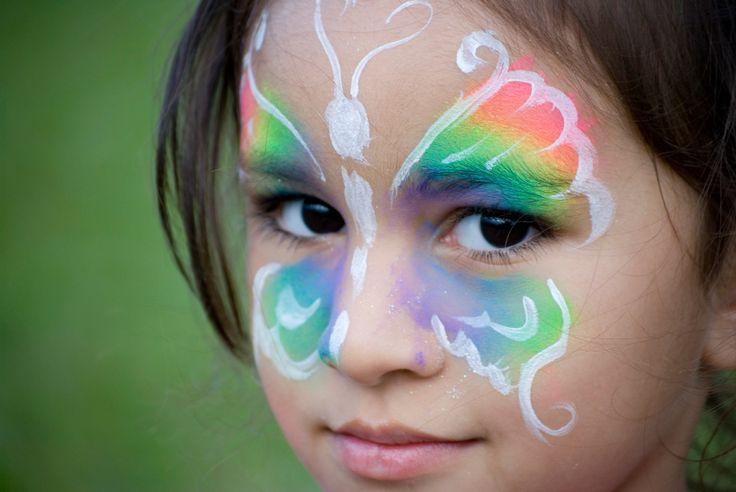 Face Painting Butterflies Designs