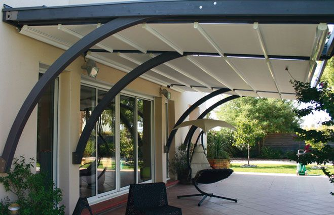 Sans pillier pergola pinterest for Pergola design alu