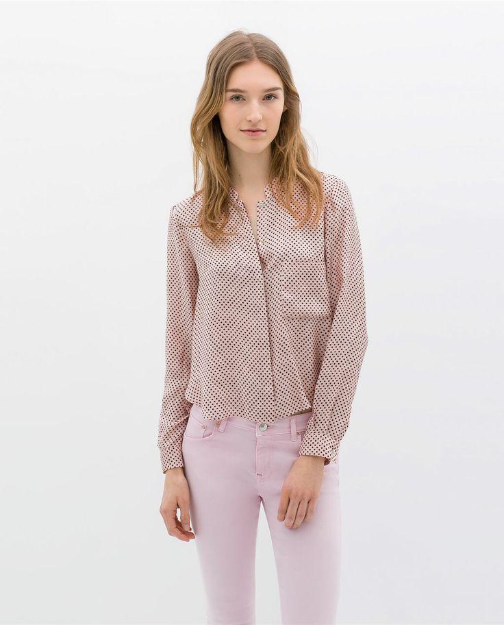 Zara Star Print Blouse 45