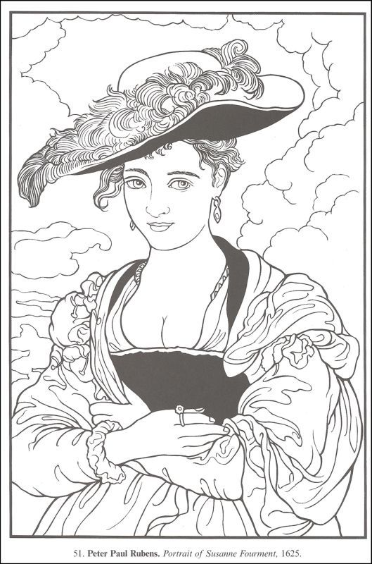 printable coloring pages of masterpieces - photo#21