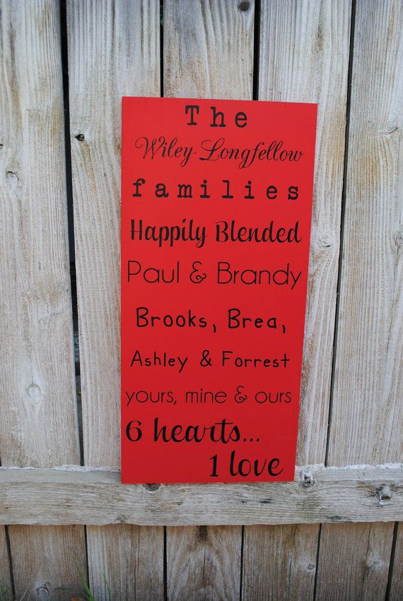 Wedding Gift Ideas Blended Family : Christmas Gift for Blended Families, Blended family Sign Established ...