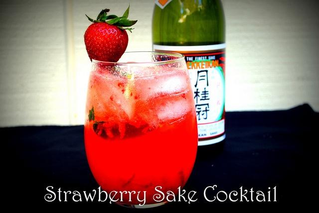 Strawberry Sake Cocktail | Drinks | Pinterest