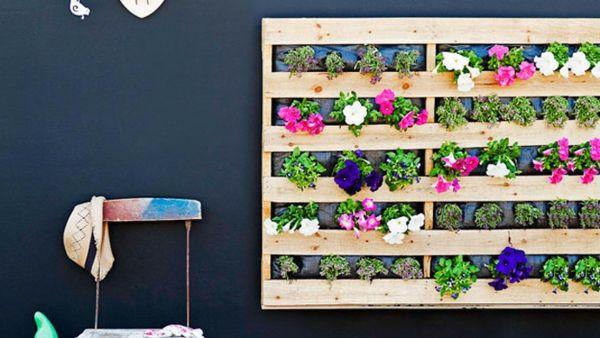 Terrassenmöbel Aus Europaletten ~ blumenbehälter aus europaletten  selber gemacht  Gartenmöbel aus