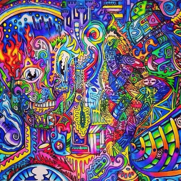 #trippy #colors #skull #neon | LSD. Acid. Trippy. Art ...
