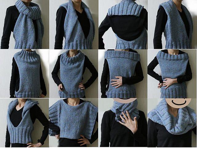 Жилет из свитера своими руками 44