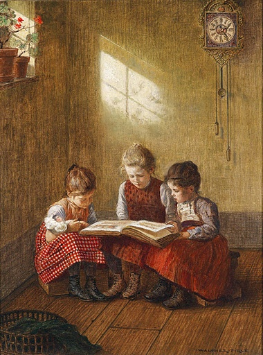 'The Fairy Tale' by Walter Firle (1859-1929, German)