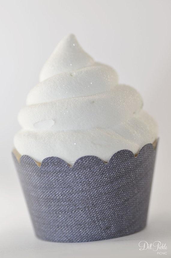 denim cupcake liners cowboy party supplies 36 bandana