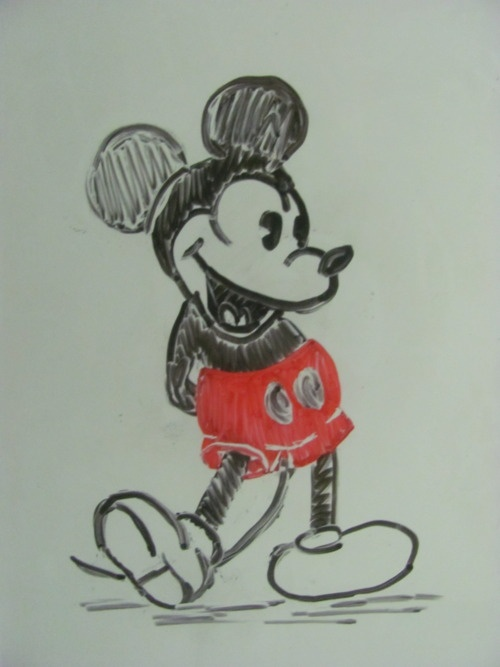 Whiteboard drawings mickey mouse whiteboard art for Easy whiteboard drawings