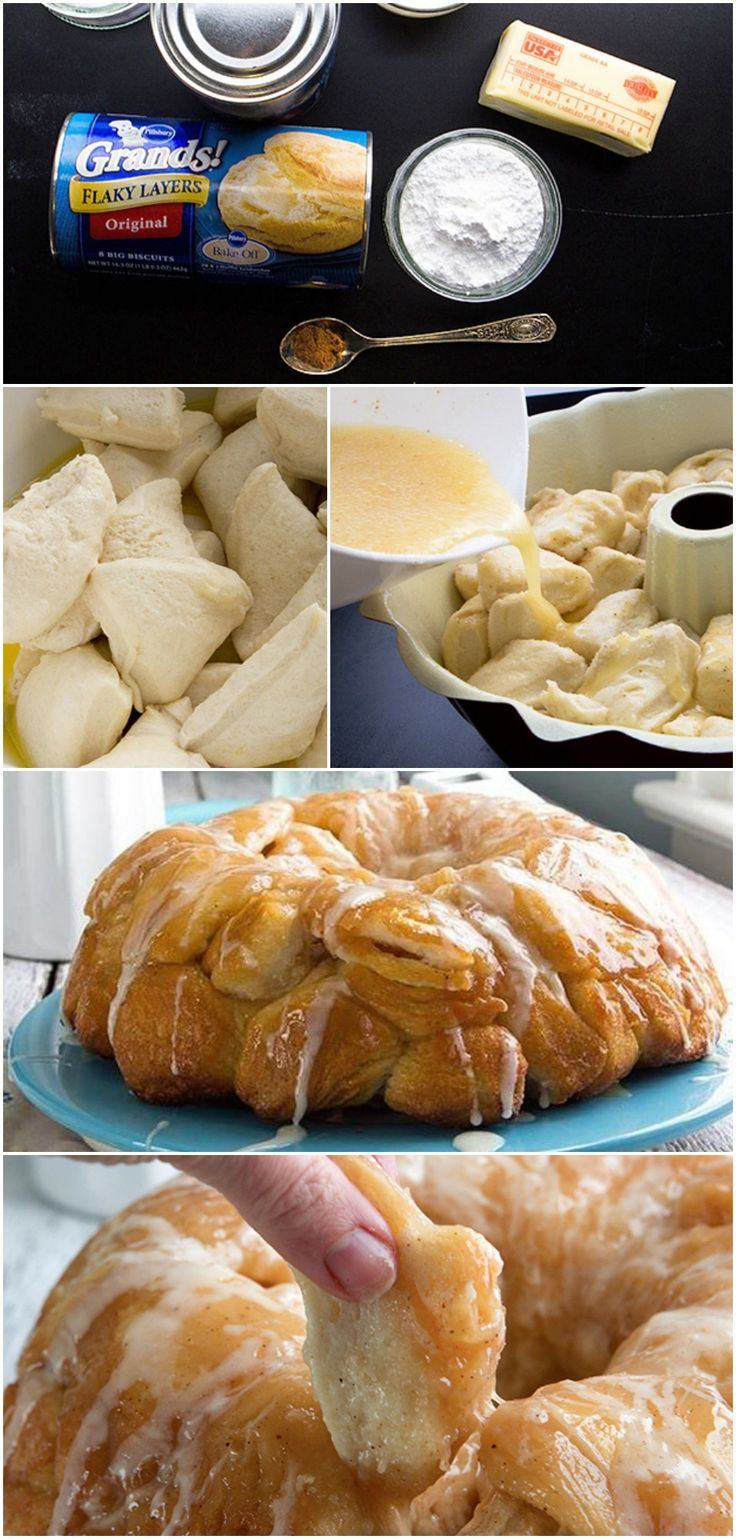 Spiced Eggnog Monkey Bread ~ Says: If you like eggnog, you're going to ...