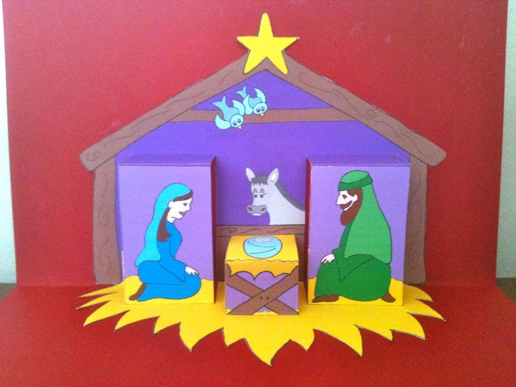 Pop Up Nativity Card To Make Christmas Craft Pinterest