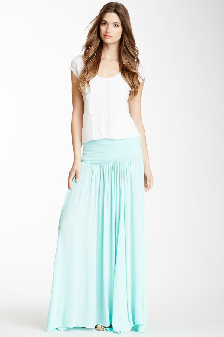 three dots pleated maxi skirt on hautelook clothes i