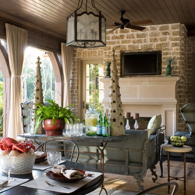 Beautiful Fireplace Outdoor Rooms Pinterest