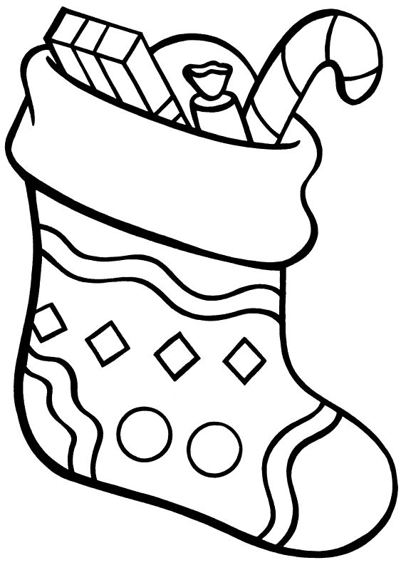 stocking free coloring pages - photo#24