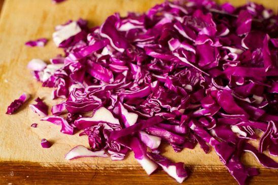 Over The Rainbow Cabbage Salad with Tahini Lemon Dressing