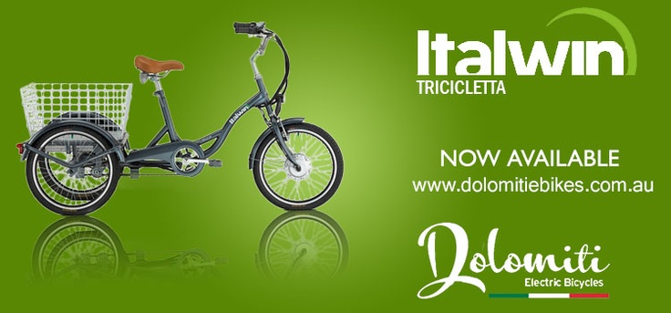 Italwin Tricicletta –Stylish and Powerful Electric Tricycle Now Available @ Dolomiti E Bikes