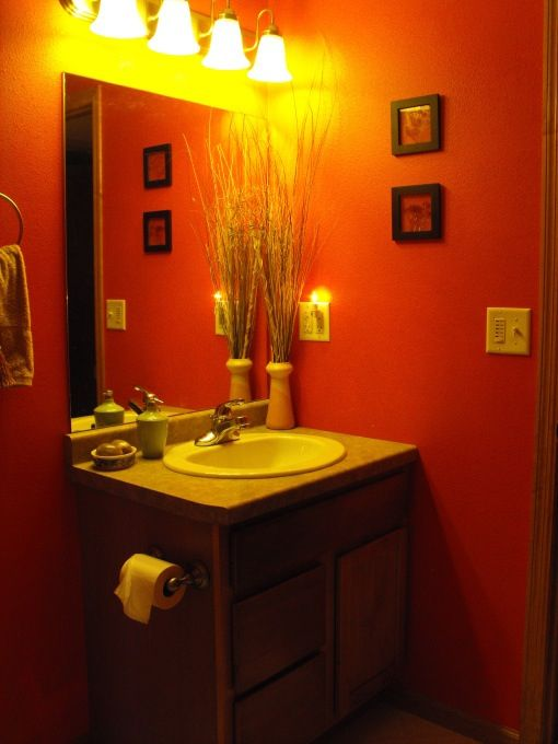 pinterest On bathroom ideas orange