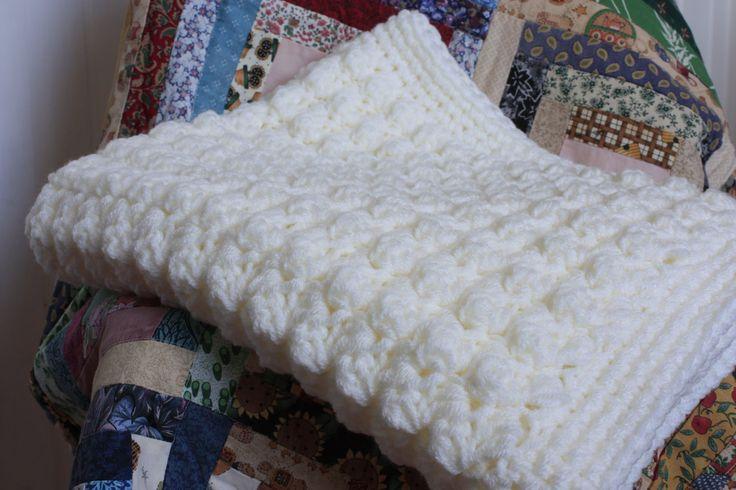 Puffy Crochet Baby Blanket Pattern : Cream handmade supersoft crochet baby blanket/shawl. Cream ...