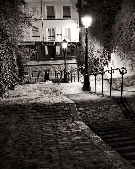 paris black and white photography montmartre steps paris prints. Black Bedroom Furniture Sets. Home Design Ideas