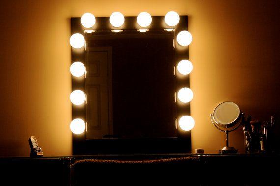 Hollywood Lights Makeup-Vanity Mirror