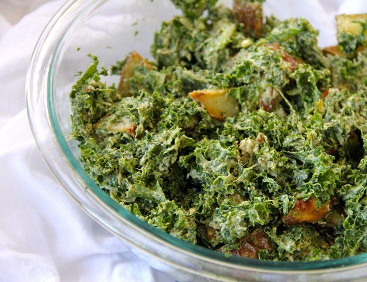Warm Potato & Kale Salad with Tahini-Dill Dressing: red potatoes ...