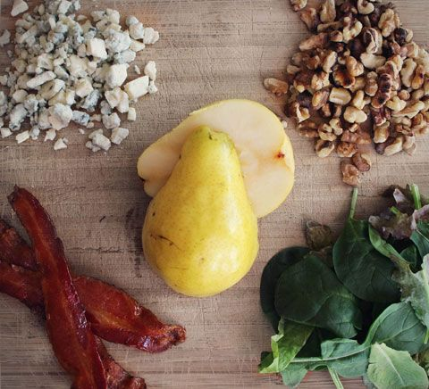 Fall Pear Salad with Maple Bacon, Gorgonzola and Toasted Nuts from The ...