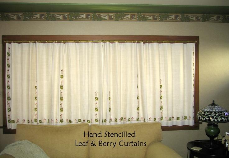 Textilestudio.com Craftsman / Arts & Crafts styled curtains.