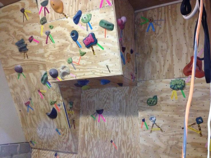 Outdoor Rock Climbing Wall Garage for Pinterest