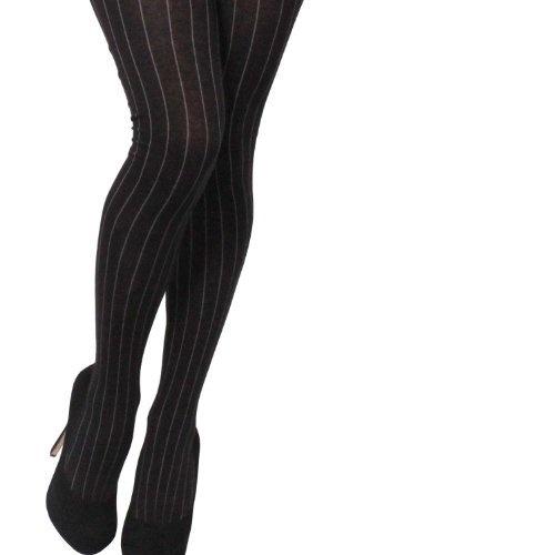 Velvet Heart Ribbed Cotton Women's Fashion Tights (M/L, Black), http