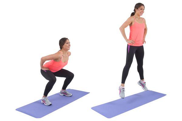 Squat Jumps | 28 DAY CHALLENGE - EXERCISES | Pinterest