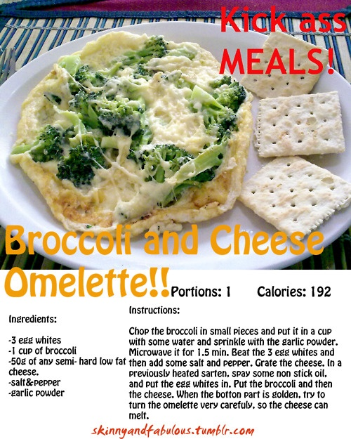 broccoli and cheese omelette | Favorite Recipes | Pinterest