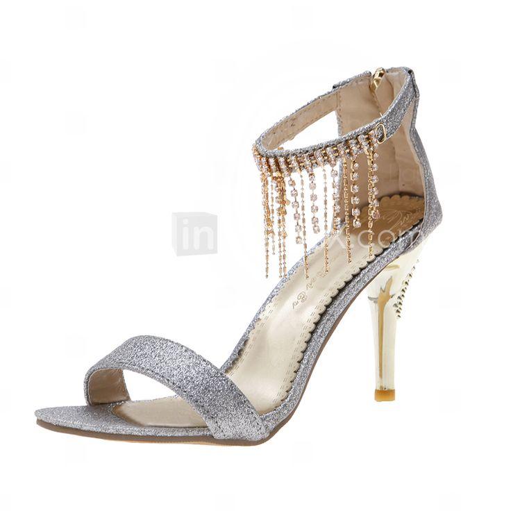 LightInTheBox Wedding Shoes: Sparkling Glitter Stiletto Heel Sandals ...