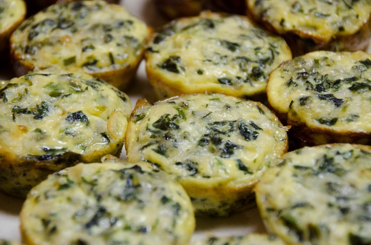 mini spinach frittata - I added mushrooms to these and they were ...